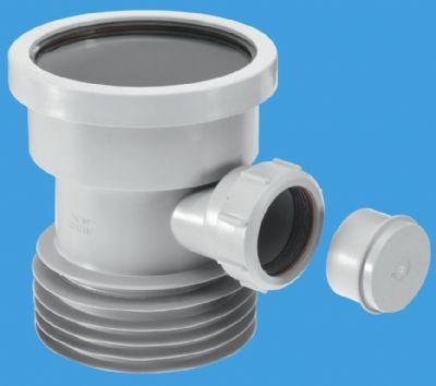 Grey Plastic Soil Pipe to Cast Iron or Clay with Boss